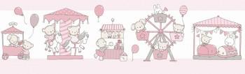 Borte Tiere Ballons Rosa Lullaby