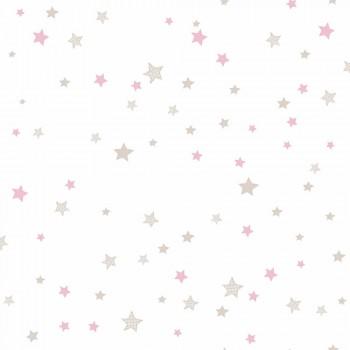 Tapete Sterne Rosa Beige Mädchen