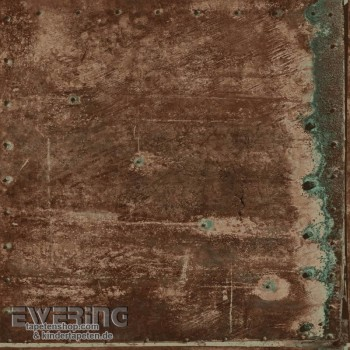 Used Look Rust Brown Metal non-woven
