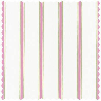Decoration fabric green pink stripes