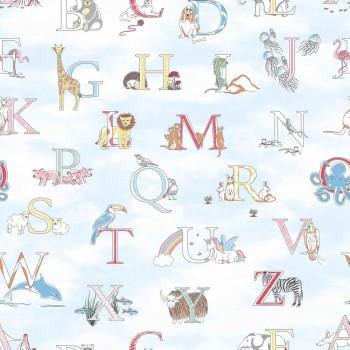 Wallpaper bright-blue letters