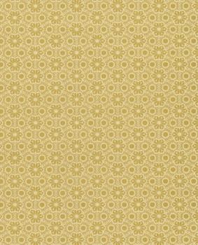 Gold Pattern Wallpaper Flowers Shimmer