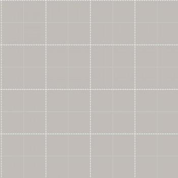 Vliestapete Hell-Grau Karomuster Kind