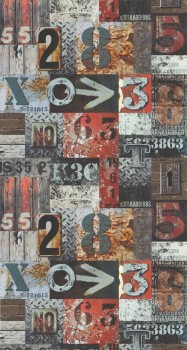 wallpaper house numbers rust