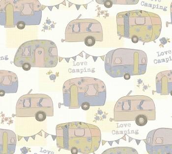 wallpaper blue-green caravan