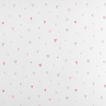 Voile heart pink-gray baby