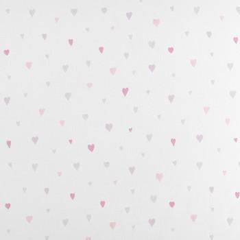 Voile Herzen Rosa-Grau Baby