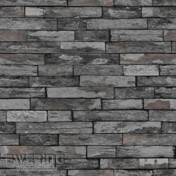 Used Look Wall Anthracite non-woven