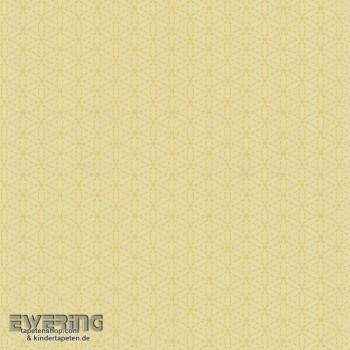 SALE Blüten gelb Papier-Tapete wenige Rollen