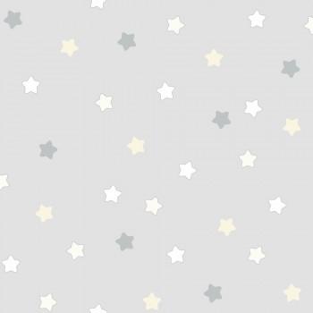 Tapete Sterne Grau Babyzimmer Lullaby