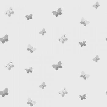 Wallpaper grey butterflies