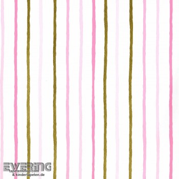 Rosa Streifen Papiertapete