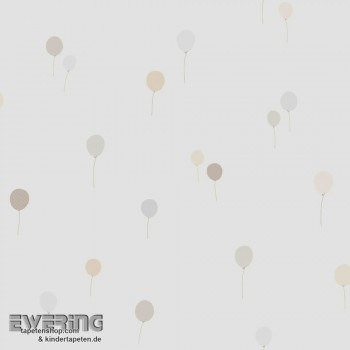 Baby-Zimmer Luftballons Beige