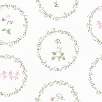 Weiß Blumen Tapete