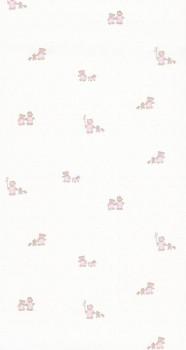 wallpaper pink bear girl