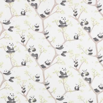 Decoration fabric panda bear cream