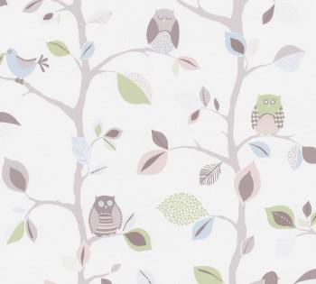 wallpaper green-grey birds