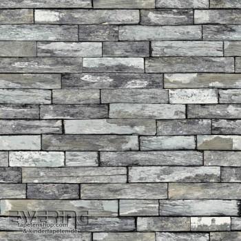 Used Look Wall Optics Grey non-woven wallpaper