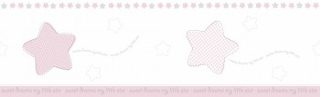 Borte Sterne Rosa-Weiß Mädchen Lullaby