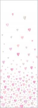 Herzen Wandbild Rosa-Grau
