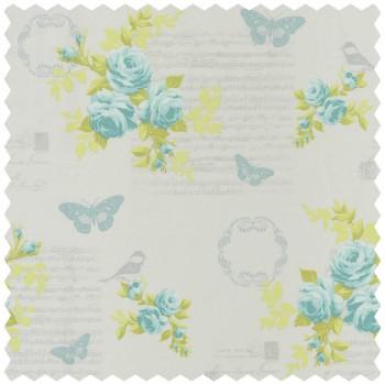 Decoration fabric light-grey flowers