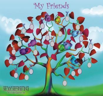 My Friends Wand-Bild Blau