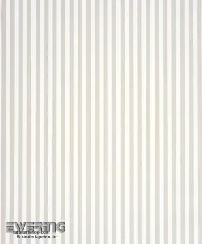 Papiertapete Hell-Grau Streifen