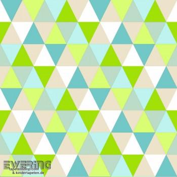 Grün Vlies Dreiecke