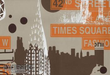 Vliestapete New York City Braun Teens