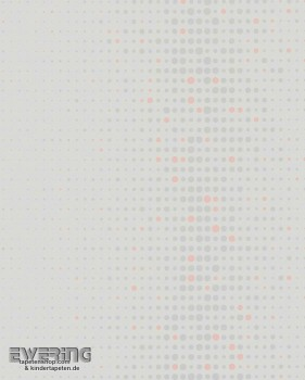 6-57236 Nena Marburg Vliestapete Punkte grau lachs glatt matt