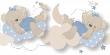 Borte Bärchen Wolken Hellblau