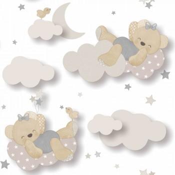 wallpaper bear clouds grey