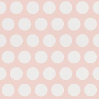 Punkte Rosa Weiß Vliestapete