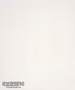 Creme-Weiß Punkte Papier-Tapete