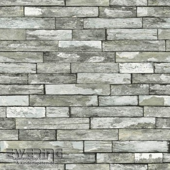 Used look stonerau wall non-woven wallpaper