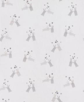 bunny non-woven wallpaper beige