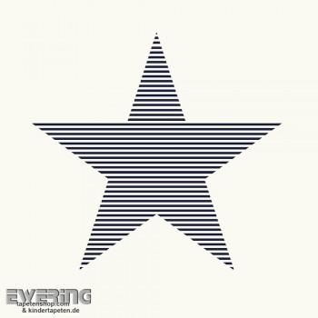 Weiß Stern Vliestapete _L