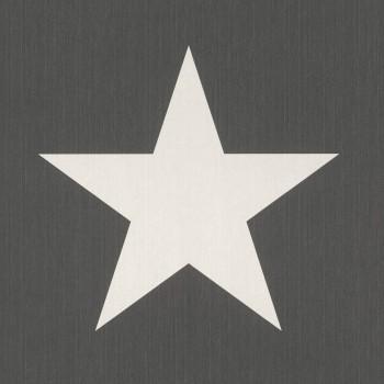 Vliestapete Braun Sterne