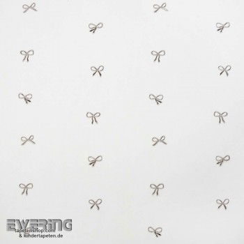 Cream white bow decoration fabric