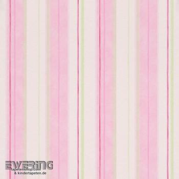 SALE offer set of 2 Piccolo 7-271515, 271515 Paper wallpaper white stripes