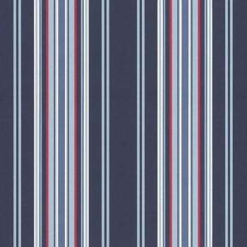 Mustertapete Blau Streifen