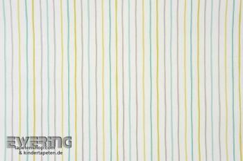 Streifen Grün Papier-Tapete