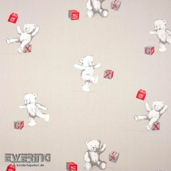 Sand-Grey Teddy Bear Decoration Fabric
