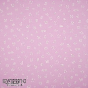 Light purple decorative fabric motifs
