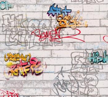 Wallpaper Grey Wall Graffiti