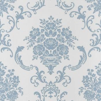 Vliestapete Blau Ornamente