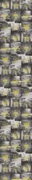 Papiertapete Wandbild Gelb