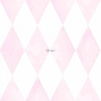 Non-woven wallpaper Delicate-pink diamonds Baby