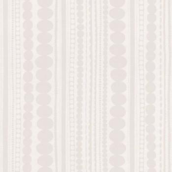 Weiß Perlmutt Vliestapete Streifen Muster
