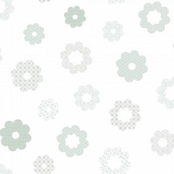Tapete Blumen Mint-Grün